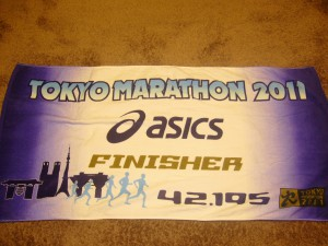 2011東京マラソンタオル