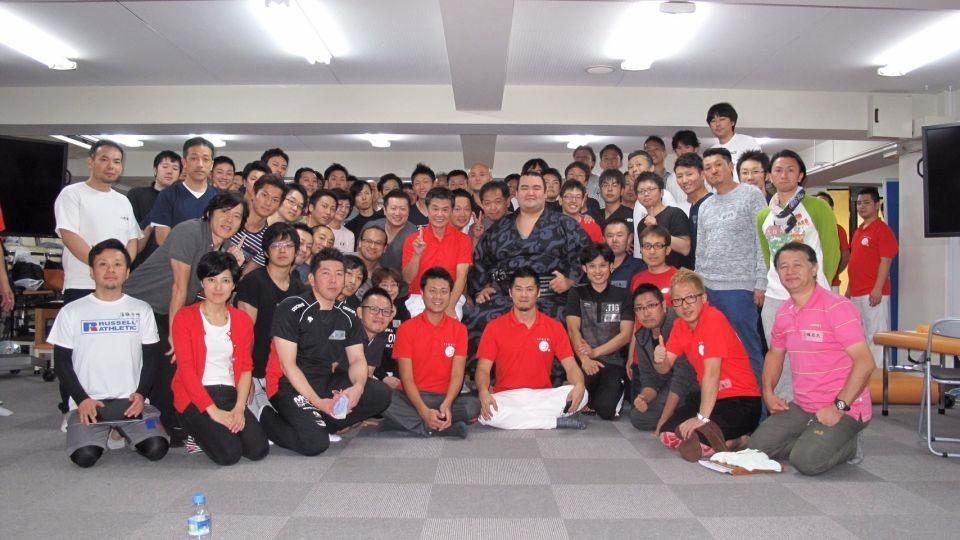 琴奨菊関とスポーツ活法研究会